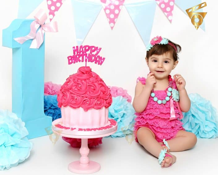 Cute Princess birthday cake smash